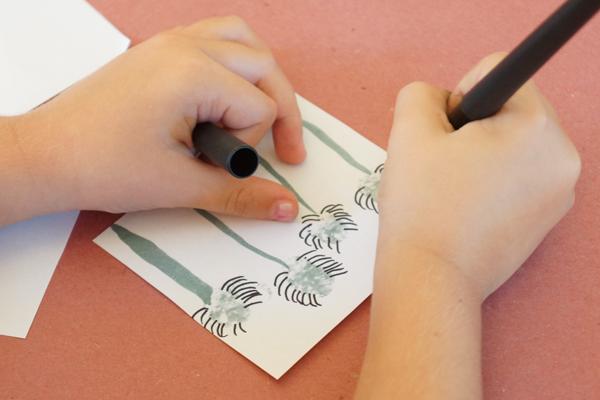 Fingerprint Spiders Drawing Legs