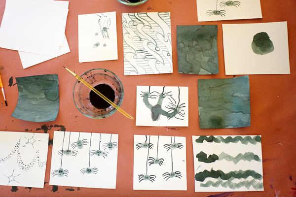 Fingerprint Spiders and Painting Experiments