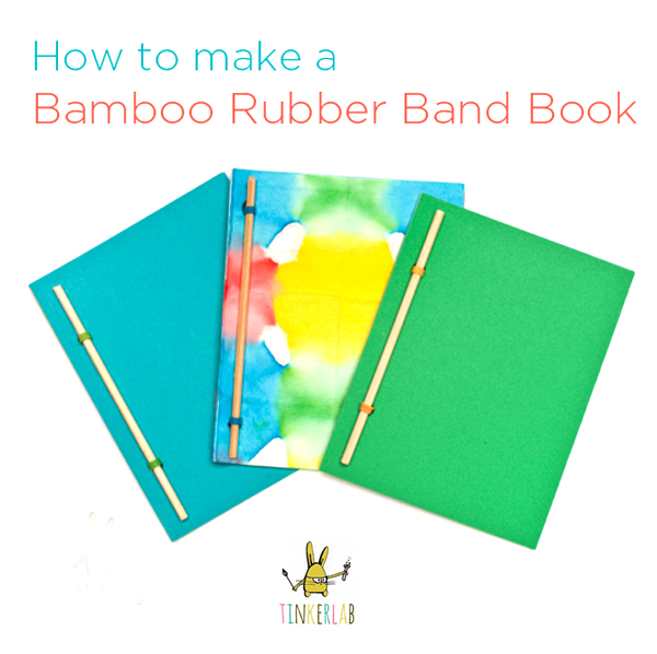 How To Make A Book Binding : Bamboo rubber band book tinkerlab