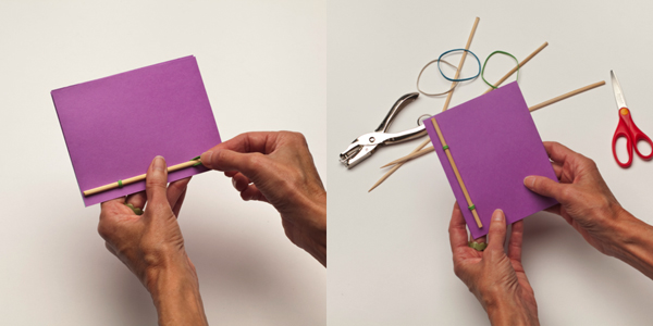 Bamboo Rubber Band Book Tinkerlab