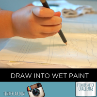 Tinkersketch Challenge: Draw into wet paint
