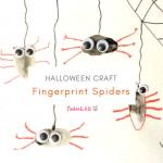 Fingerprint Spiders for Halloween