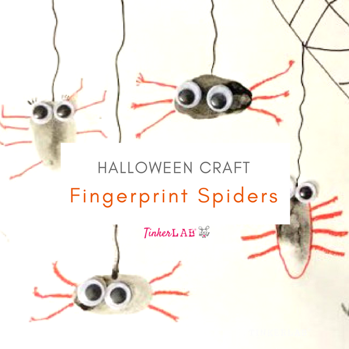fingerprint spider craft for kids