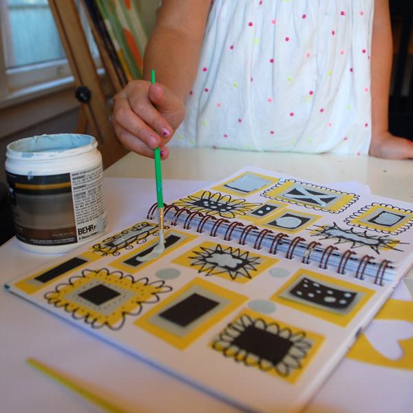 painting on sketchbook 2