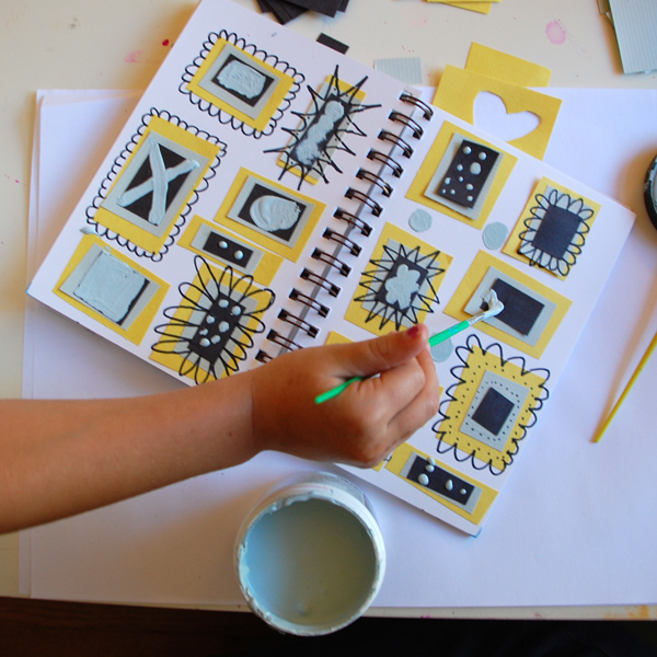 painting on sketchbook