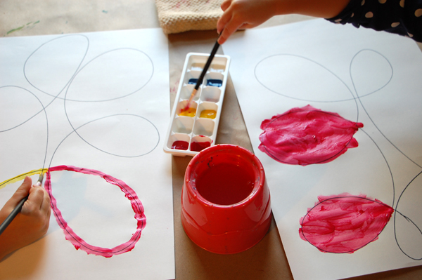 Creative Invitaiton Paint and Looping Lines Process