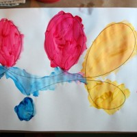 Creative Invitation with Paint and Looping Lines :: Tinkerlab