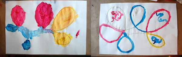 Creative Invitaton Paint and Looping Lines :: Tinkerlab