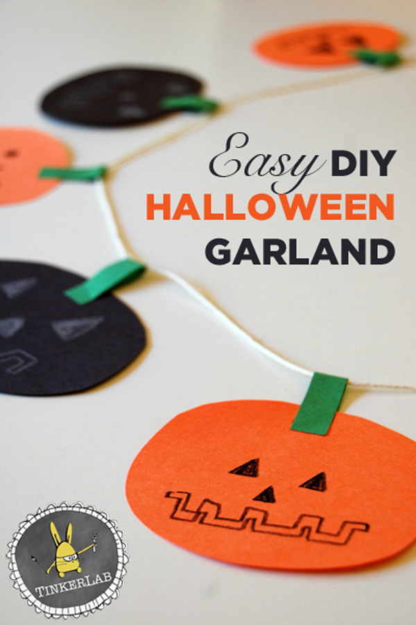 Easy DIY Halloween Garland :: Tinkerlab
