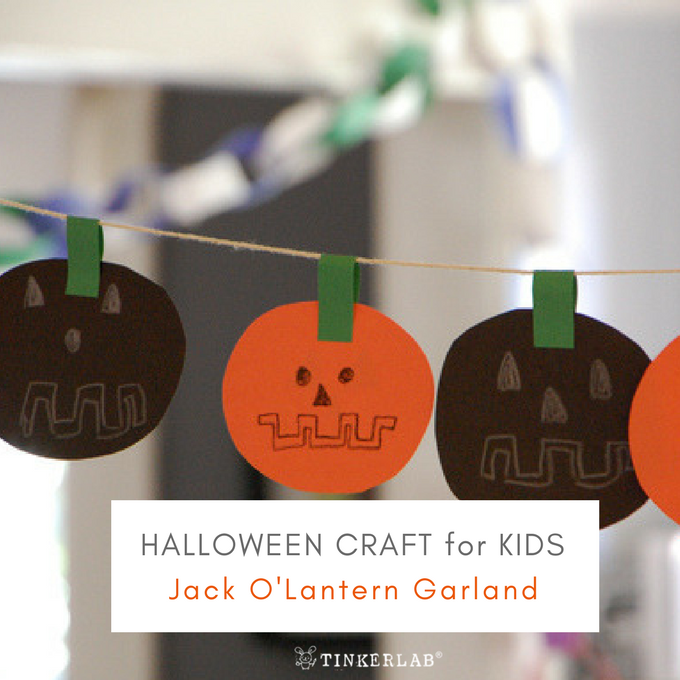 diy jack o'lantern garland for kids