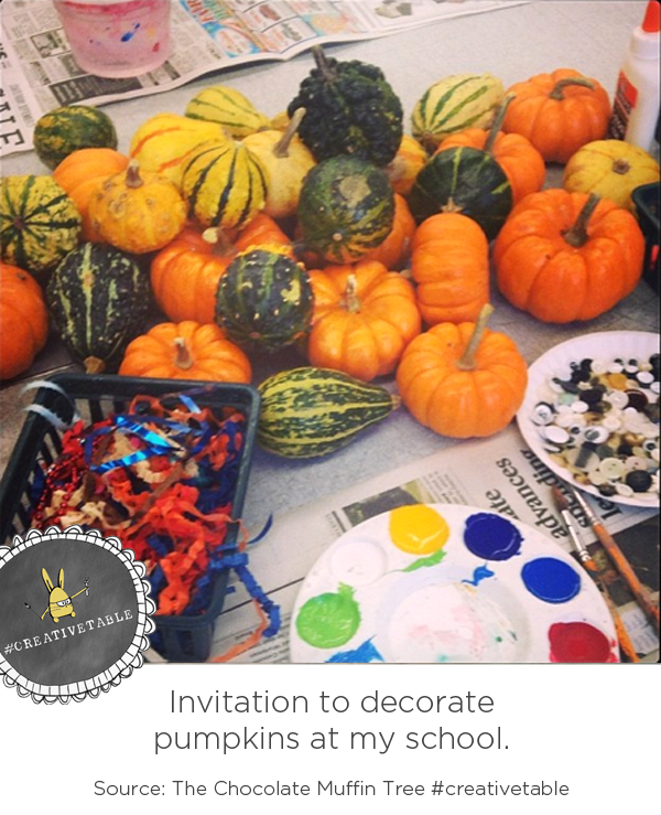 Inviation to decorate pumpkins Chocolate Muffin Tree :: #creativetable on Instagram