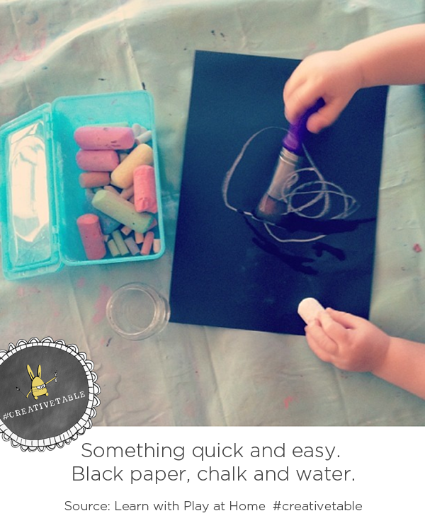 Creative Table Invitation from Learn with Play at Home