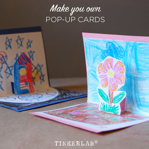 How to make pop up cards tinkerlab make your own pop up cards m4hsunfo