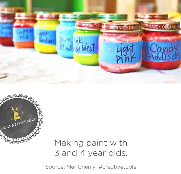 Making paint with 3 and 4 year olds :: CreativeTable