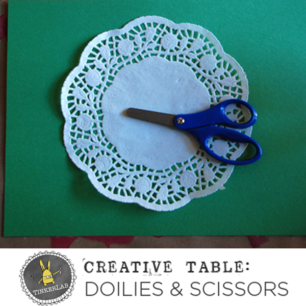 Easy set-up Creative Table Invitaiton with Doilies and tape