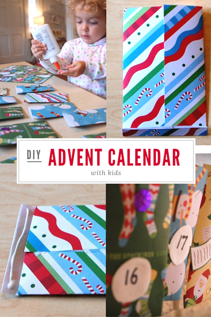 How to make an easy handmade advent calendar with kids.