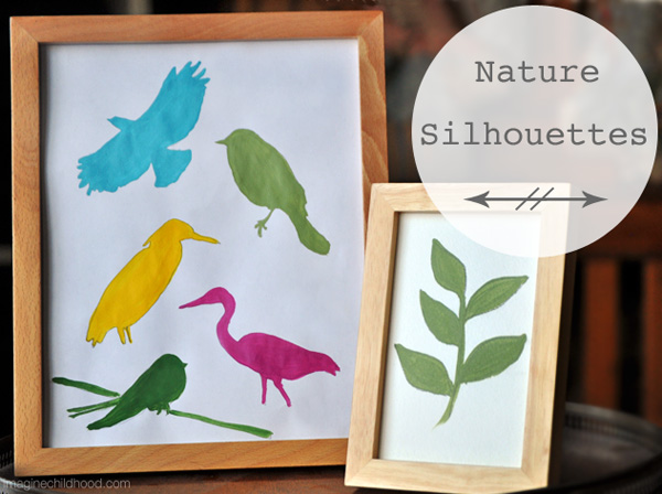 Nature Silhouettes on Tinkerlab