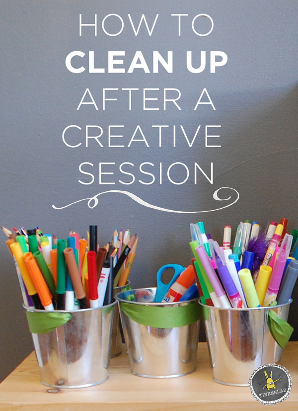 How to clean up after a creative session