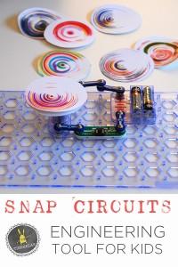Snap Circuits and DIY Spin Art   Tinkerlab