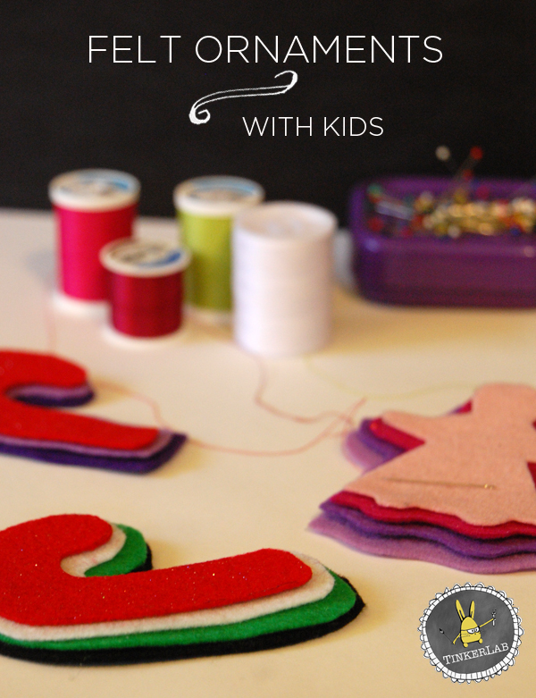 How to make sweet keepsake felt ornaments with kids | TinkerLab.com