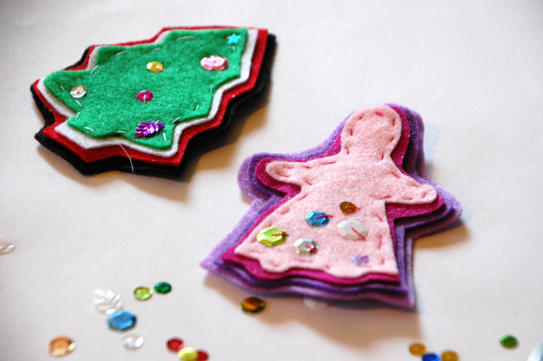 felt ornaments with sequins 2
