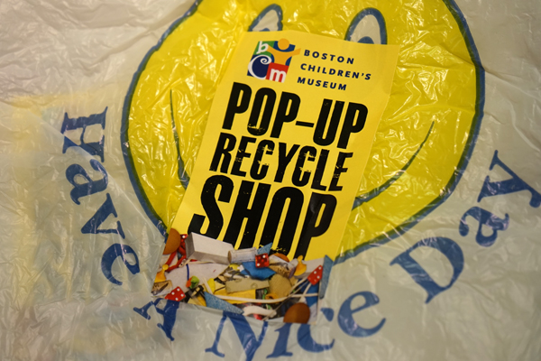 recycle pop up shop bags