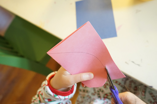 how to cut a heart out of paper tinkerlab