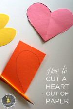 How to cut a heart out of paper