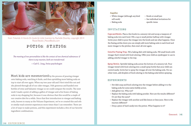 TinkerLab Book Free Activity for Creative Kids, Potion Station
