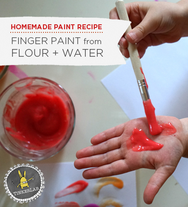 Paint Recipe for Kids | Homemade Finger Paint