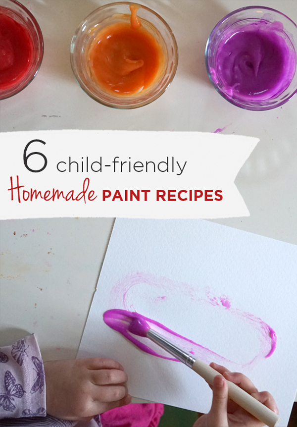 6 Favorite Homemade Paint Recipes for Kids  |  TinekerLab.com