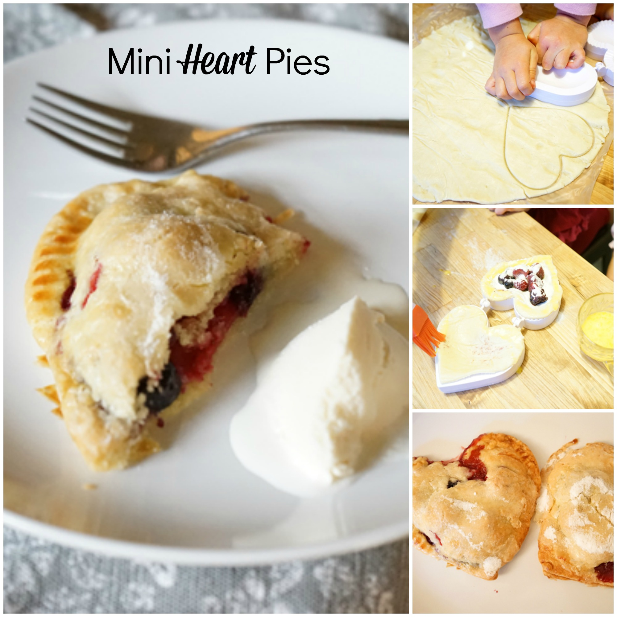 Yum! We love making (and eating) these heart shaped hand pies.