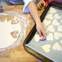 Salt Dough Magnets: A Valentine Gift Made by Kids