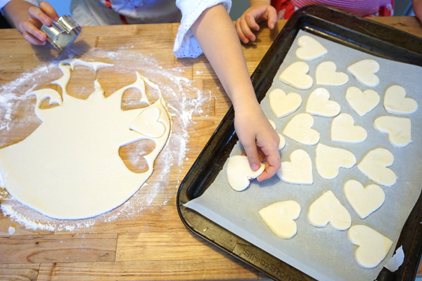 Salt Dough Magnets: A Valentine Gift Made by Kids