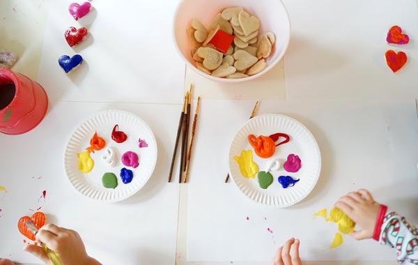Valentine Crafts for Kids: Salt Dough Magnets