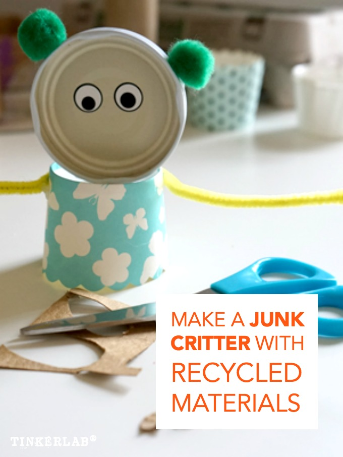 Found object art junk critters art and science experiments for Homemade recycled products