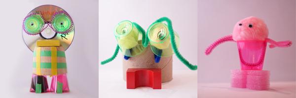 Recycled Art Sculpture | Tinkerlab.com