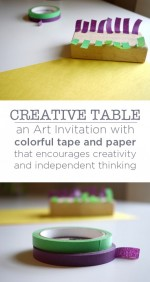 An Invitation to Create with Tape and Paper