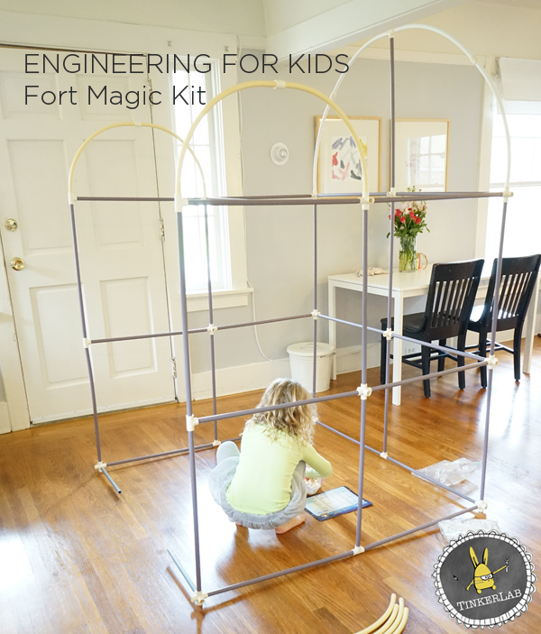 Engineering for Kid Super Fun Fort Building Kit & Engineering for Kids | Fort Building Kit | TinkerLab