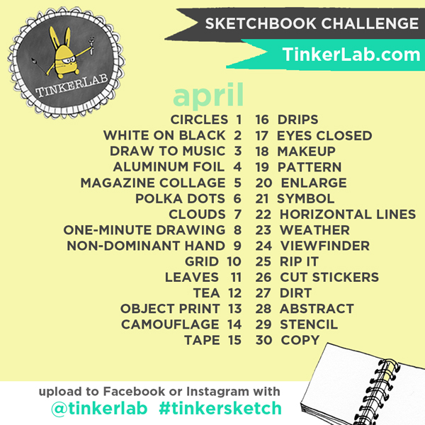 The Line Art Challenge Sketches For Days : Tinkersketch instagram sketchbook challenge tinkerlab