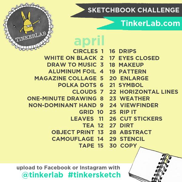 TinkerSketch Sketchbook Challenge on Instagram