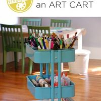 Art cart on wheels