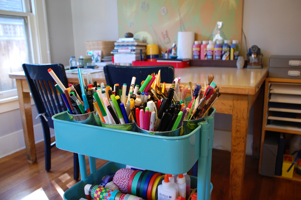 How to set up and Art Cart for easy-to-reach, everyday art supplies | TinkerLab