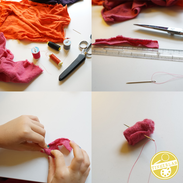 How to Felt a Wool Sweater into a Flower | TinkerLab