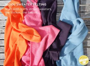 How to Felt Wool Sweaters | TinkerLab.com