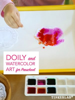 Ideas to use doilies in art