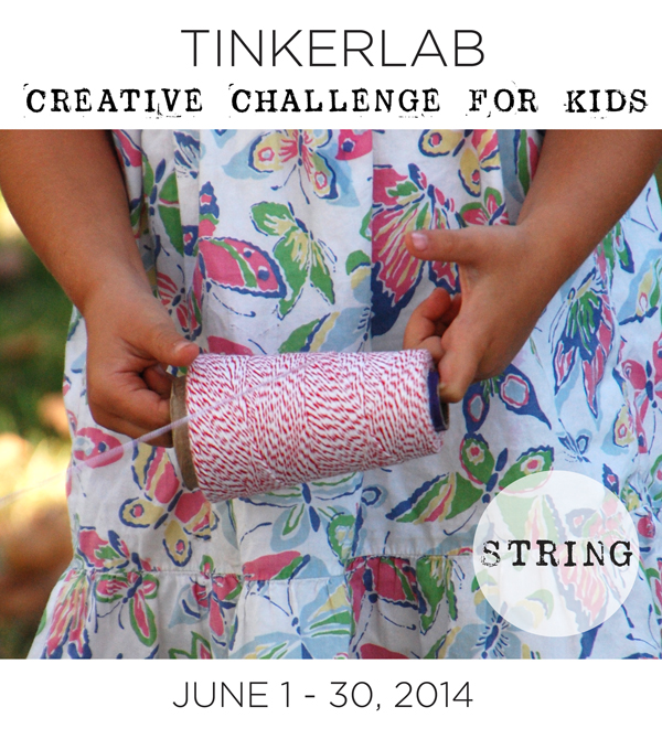 Creative Challenge for Kids | String  | TinkerLab.com