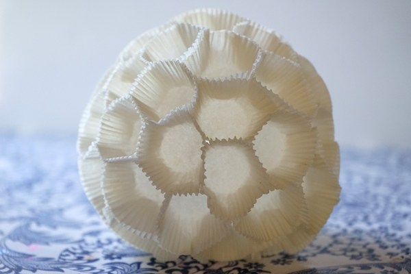Turn cupcake liners into Art, inspired by Tara Donovan | TinkerLab