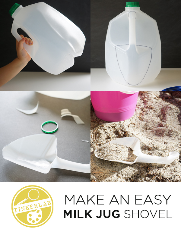 Make an Easy Milk Jug Shovel | TinkerLab.com