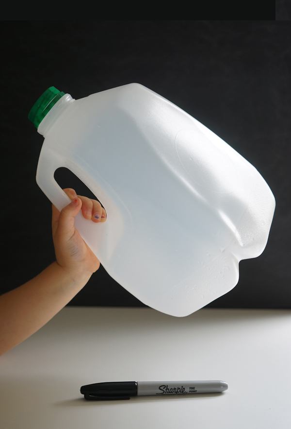 Make a Milk Jug Shovel | TinkerLab.com